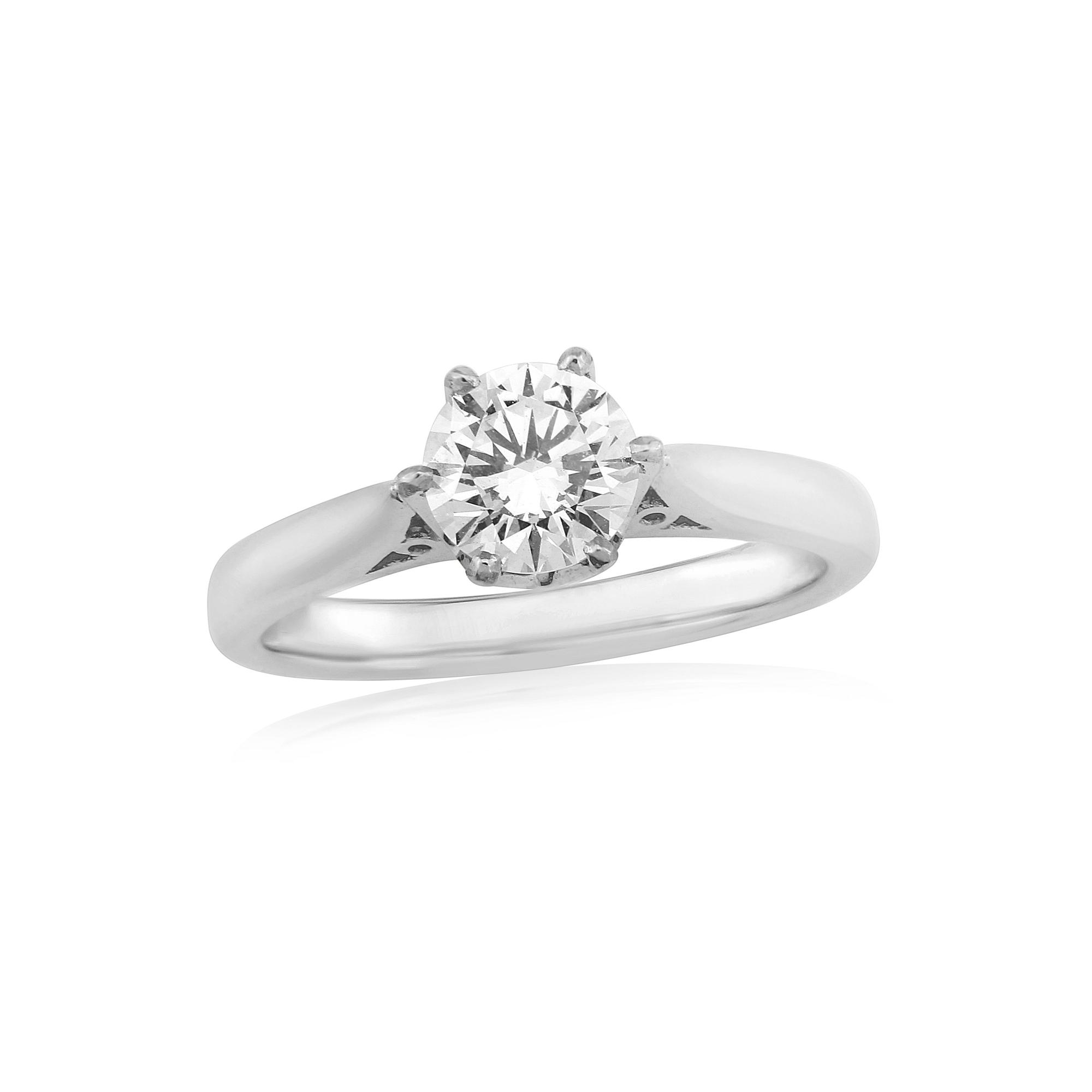 Perfection in Platinum Diamond Ring 0.76ct