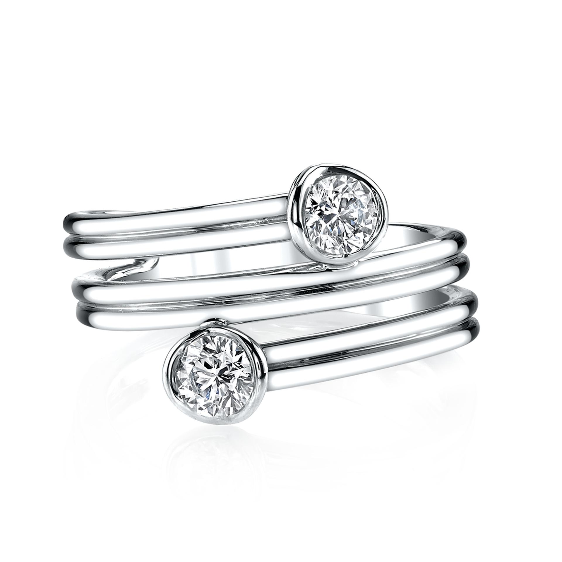 18ct White Gold Sirena Diamond Ring