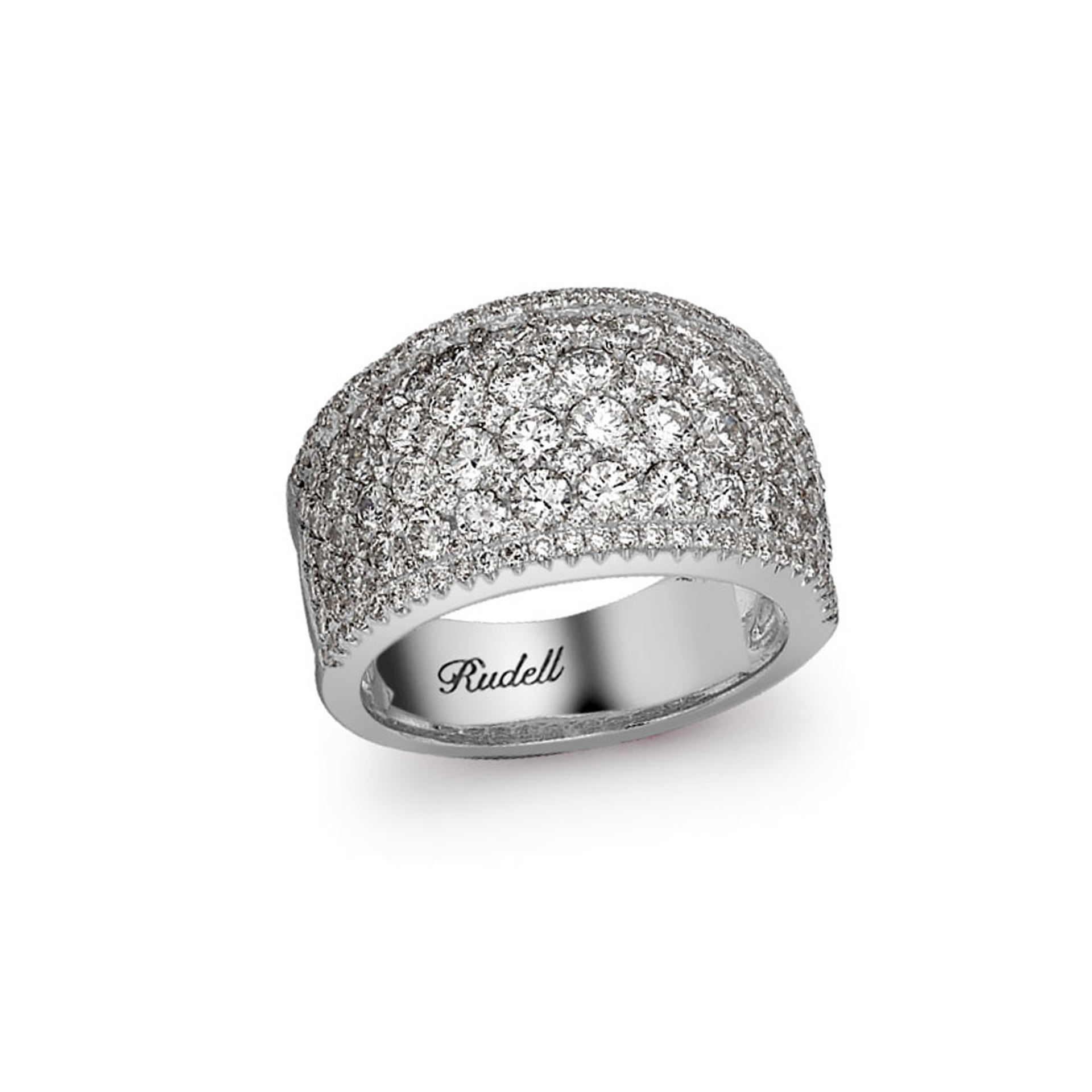 18ct White Gold Pave Set Diamond Ring