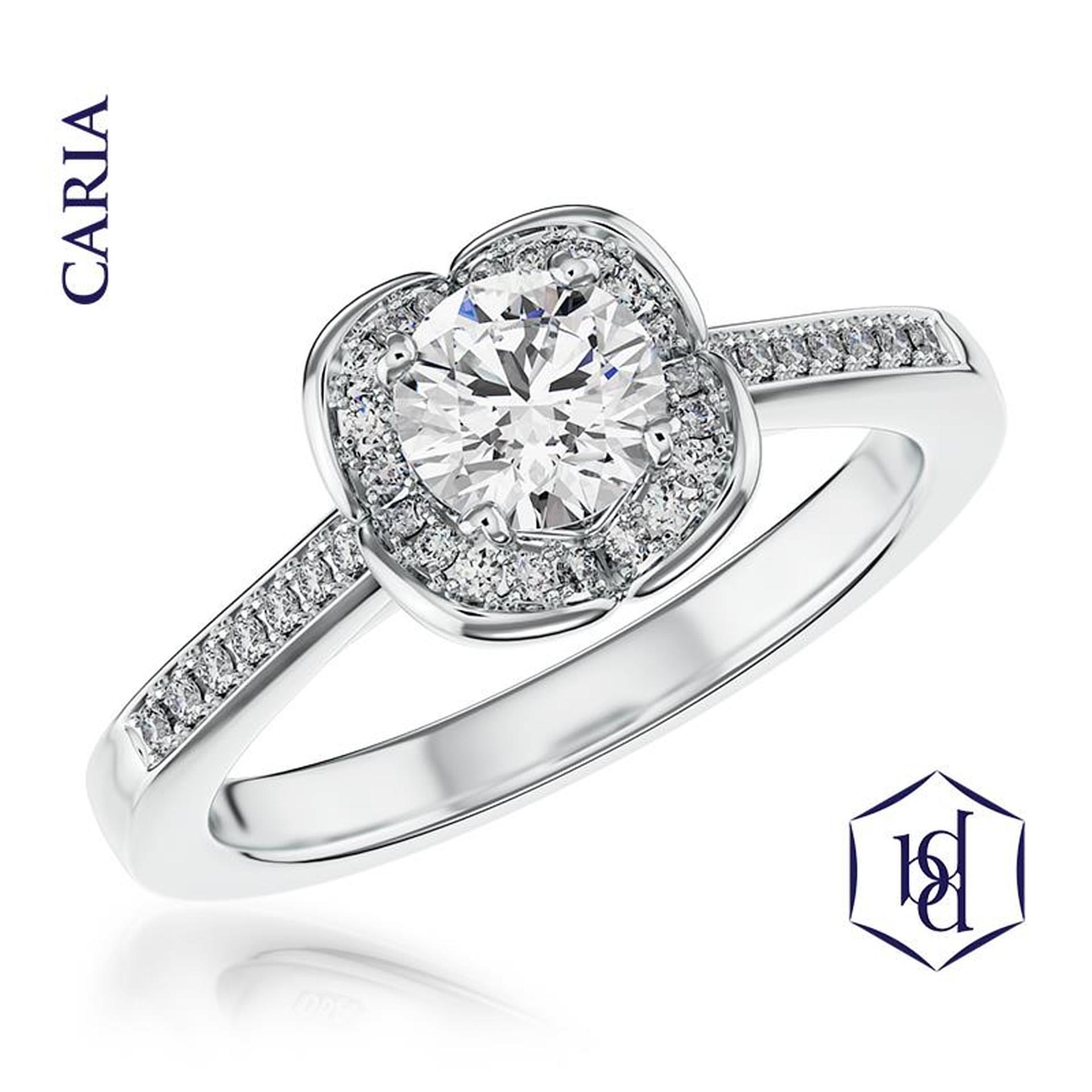 Caria Platinum 0.30ct Engagement Ring