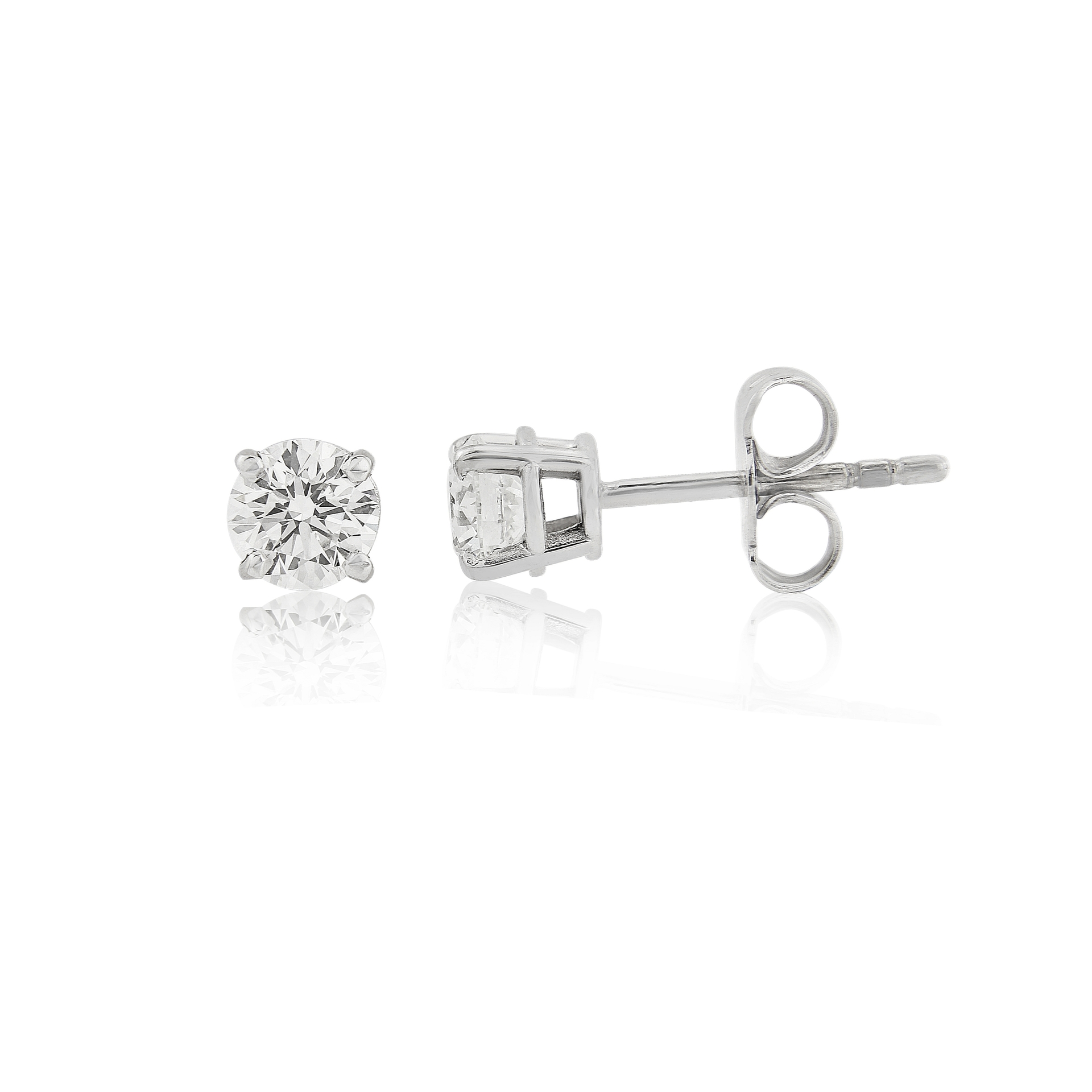 Pre-Owned 18ct white gold diamond earrings