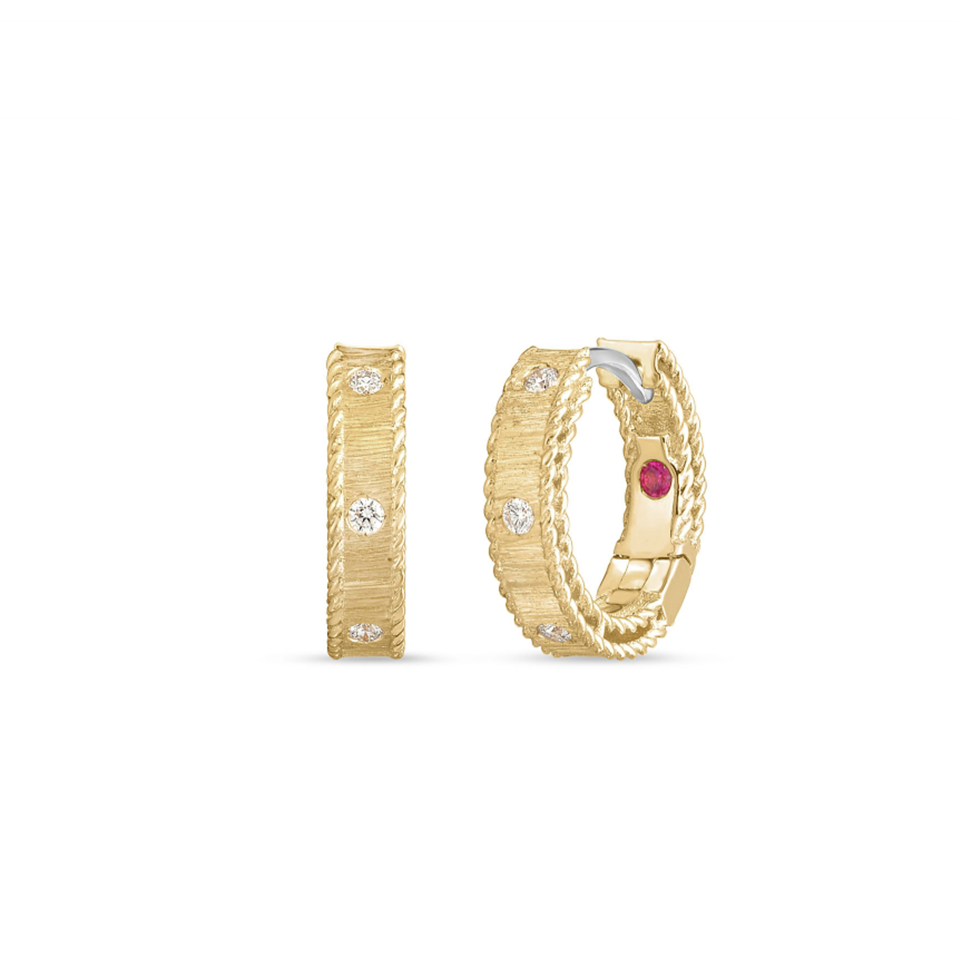 Roberto Coin Princess 18ct Yellow Gold Diamond Set Earrings