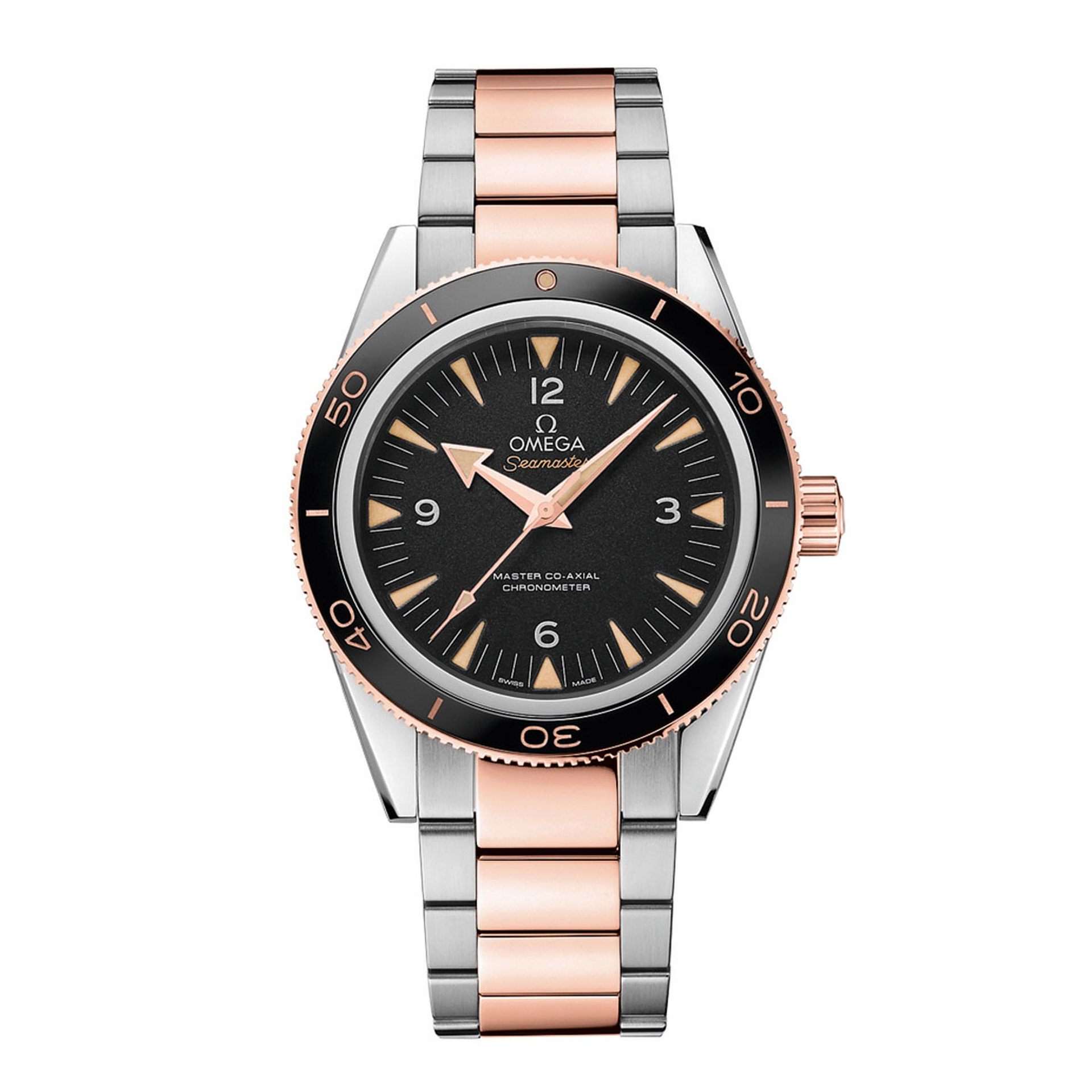 Gents OMEGA Seamaster Planet Ocean 300m Steel and Gold Watch