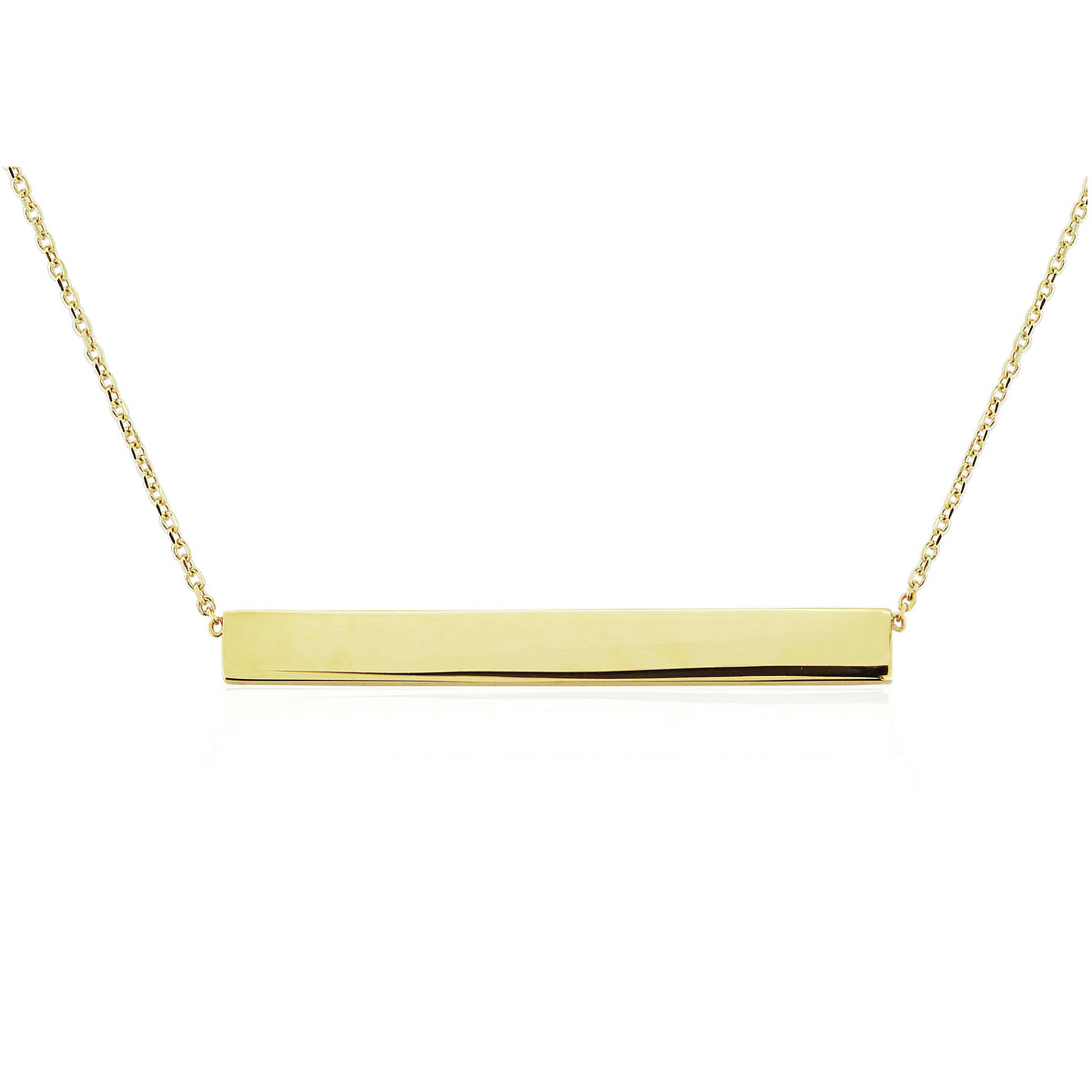 9ct Yellow Gold Bar Necklet