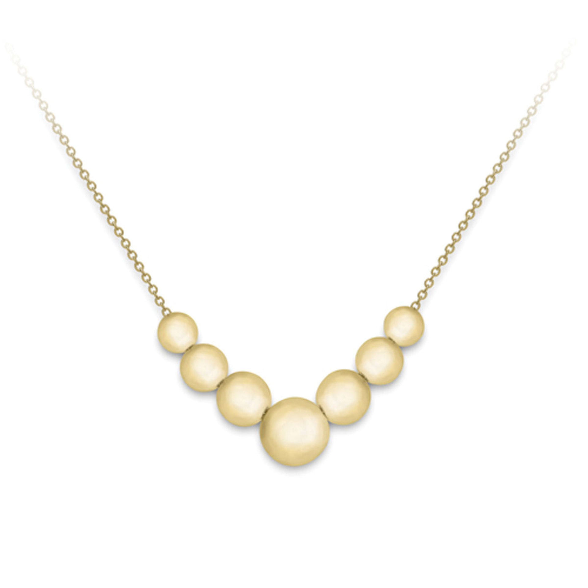 9ct Yellow Gold Beaded Necklet