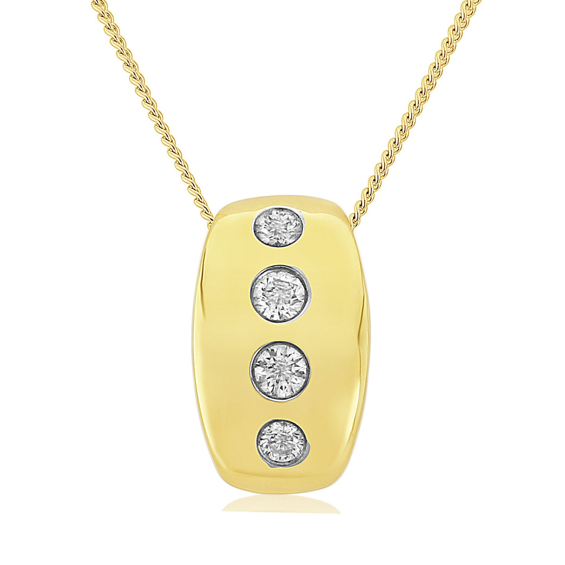 Rudells Embrace 18ct Yellow Gold Pendant