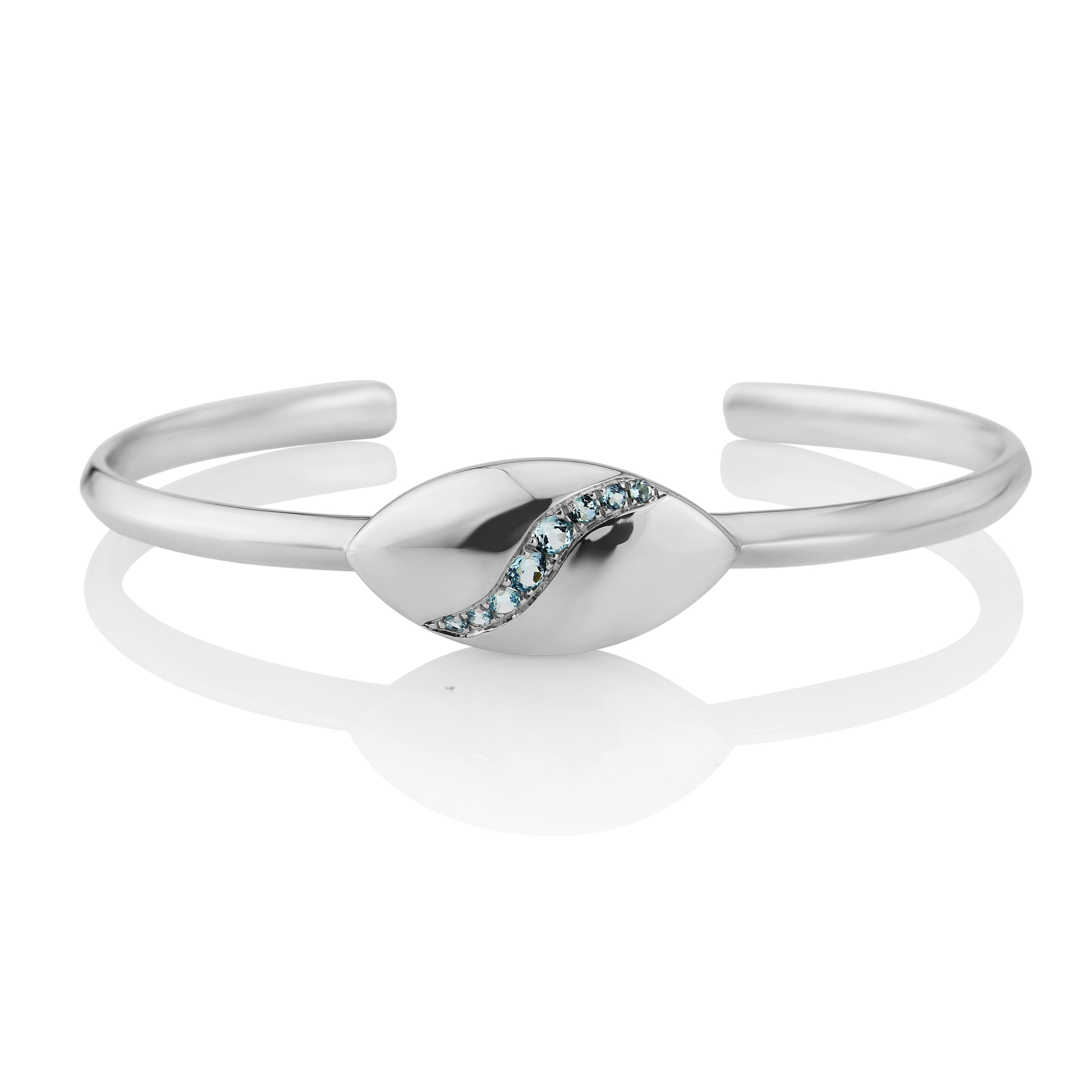 Rudells Dune Silver and Blue Topaz bangle