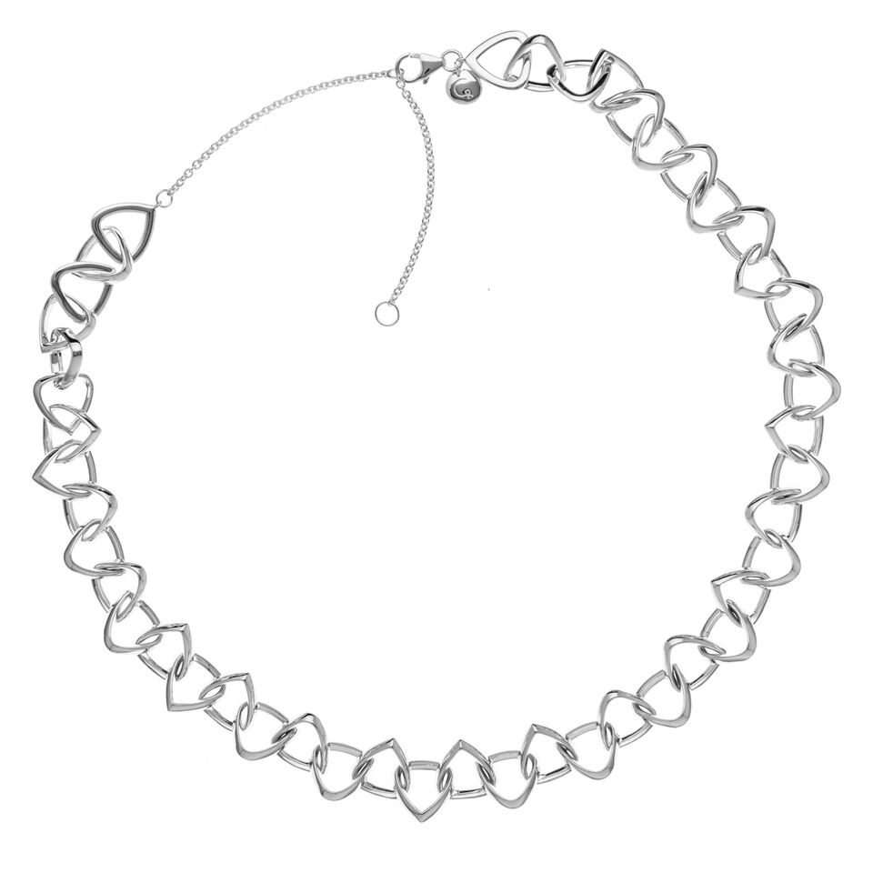 Rachel Galley Sterling Silver Teroso Linked Necklace