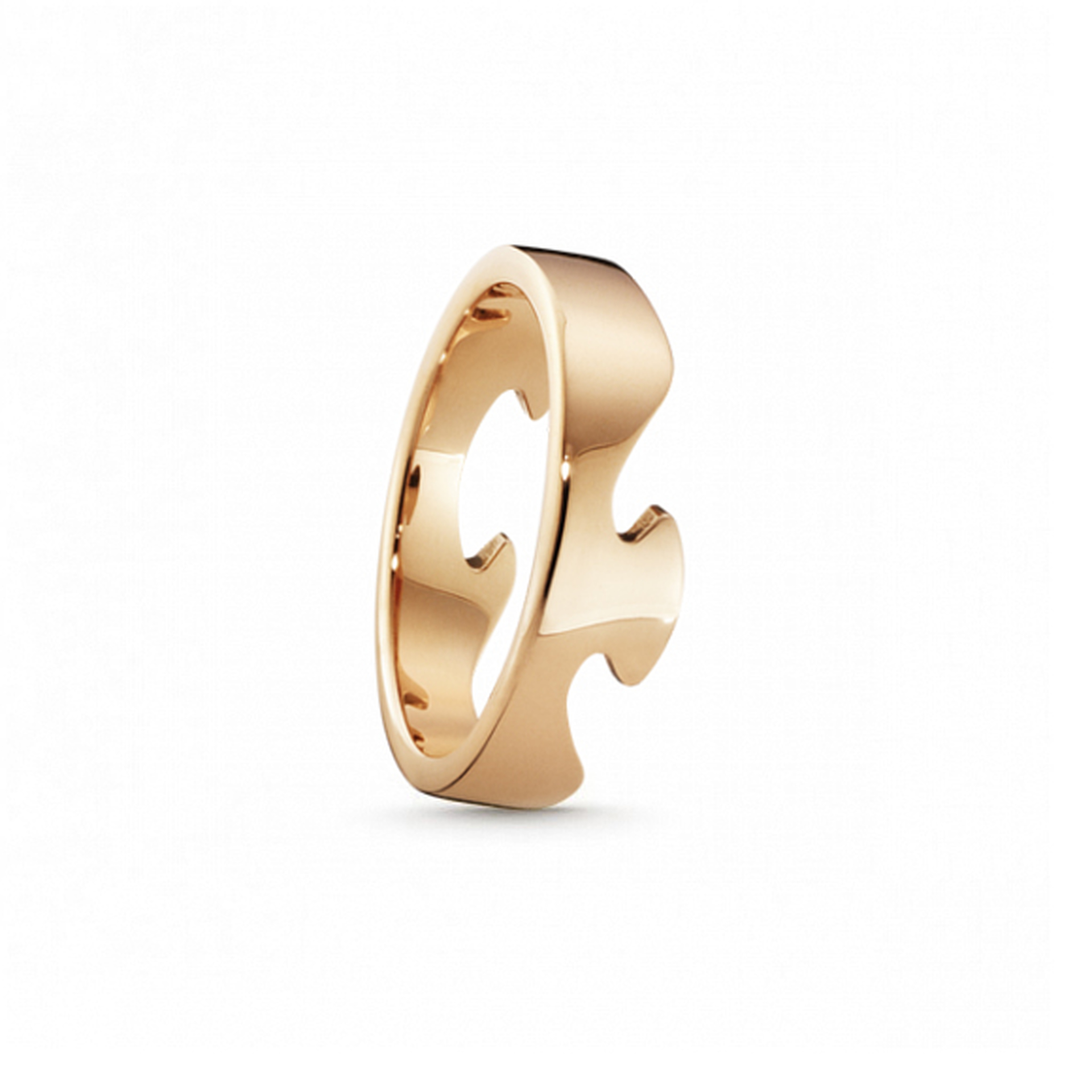 18ct Rose Gold Fusion End Ring