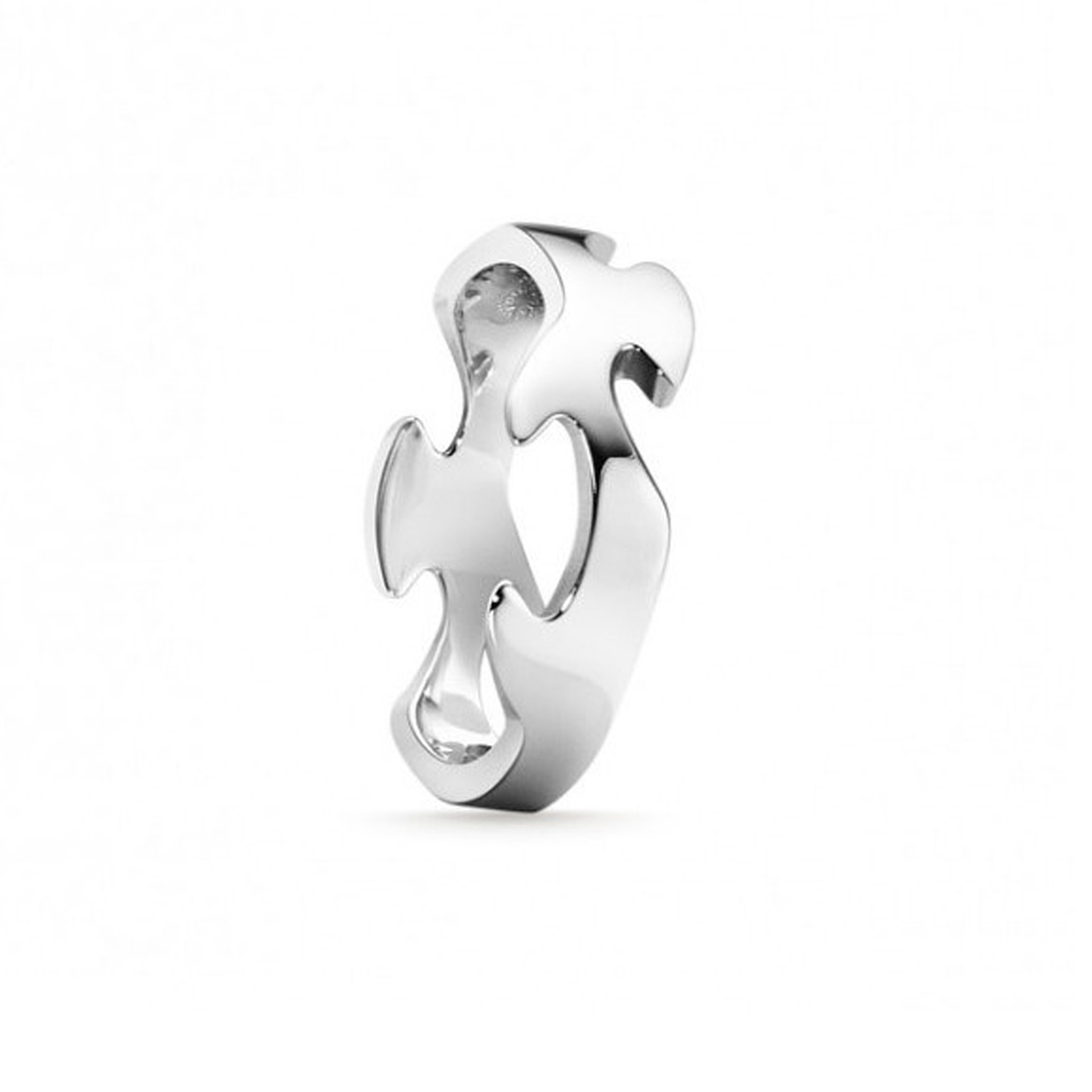 18ct White Gold Fusion Centre Ring
