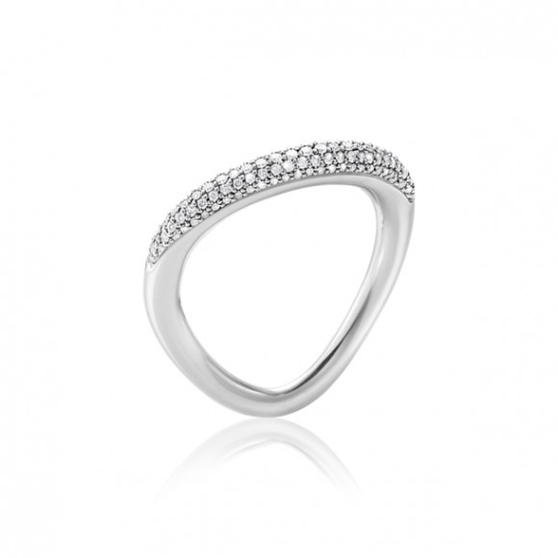 Georg Jensen OFFSPRING RING - Sterling Silver with Brilliant Cut Diamonds