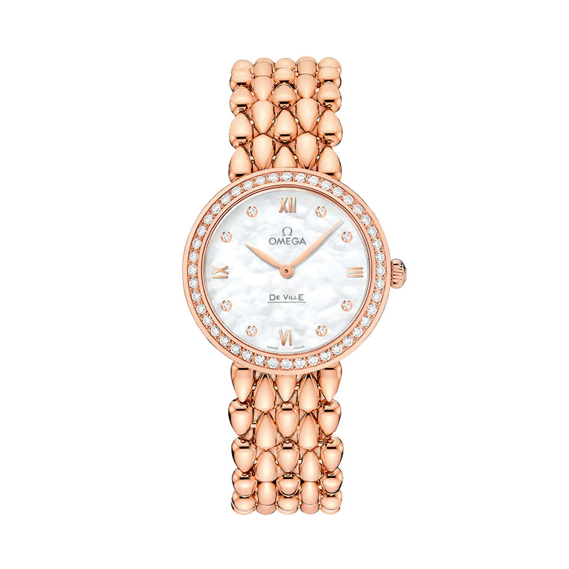 Ladies OMEGA De Ville Prestige Dewdrop Rose Gold Watch
