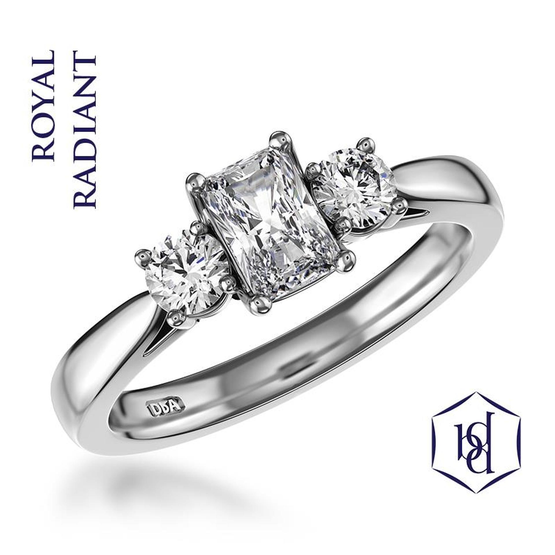 Royal Radiant Platinum 0.45ct Engagement Ring