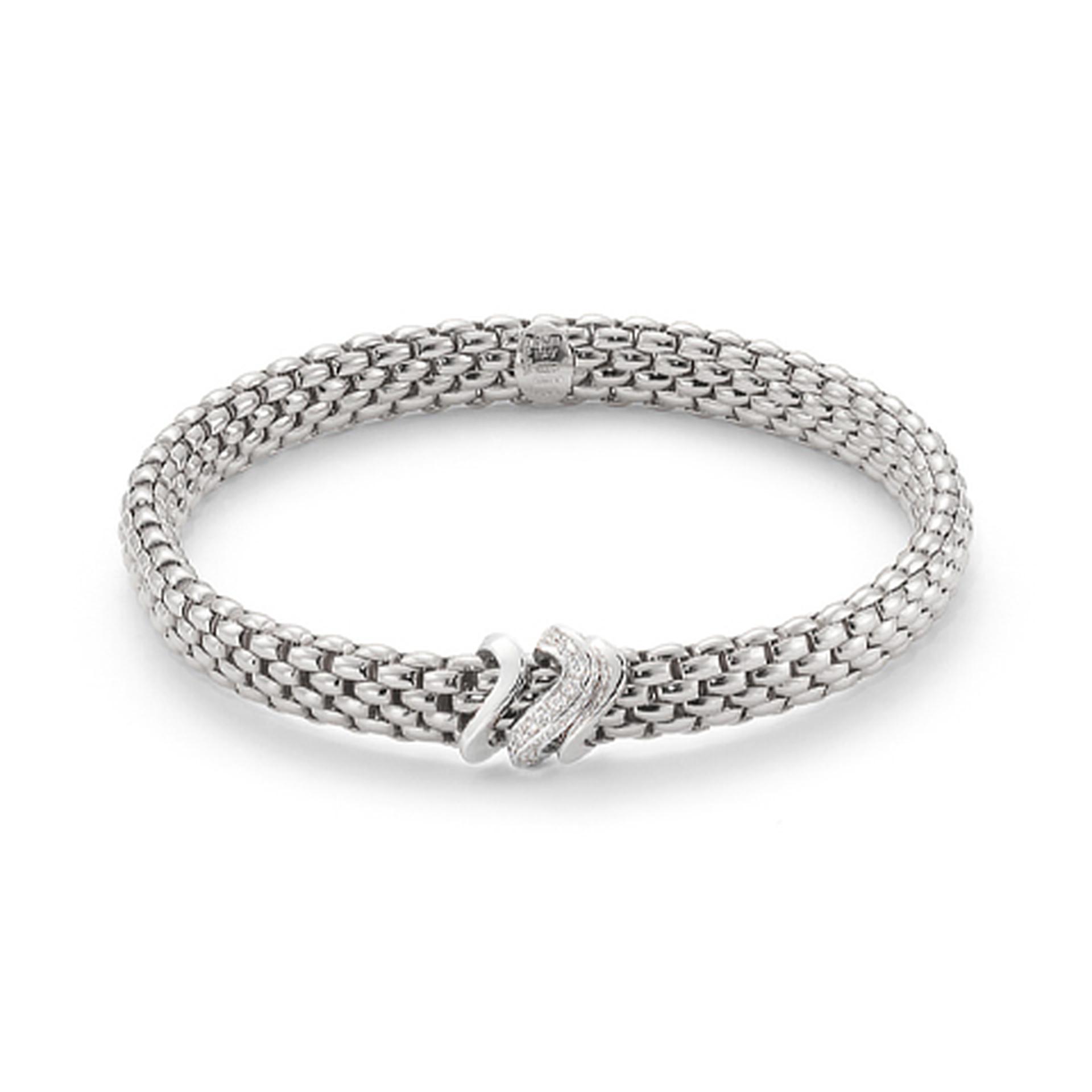 FOPE Bracelet 18ct white gold Flex it Vendome diamond set
