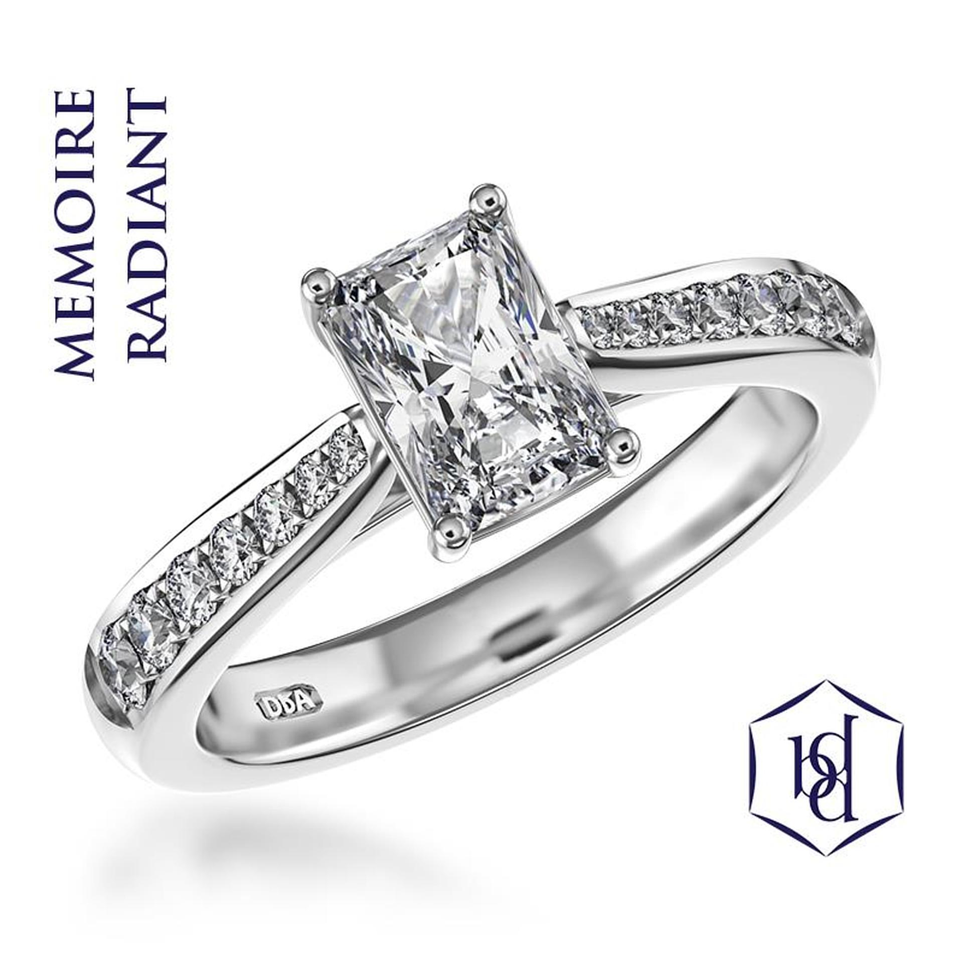 Memoire Radiant Platinum 0.62ct Engagement Ring