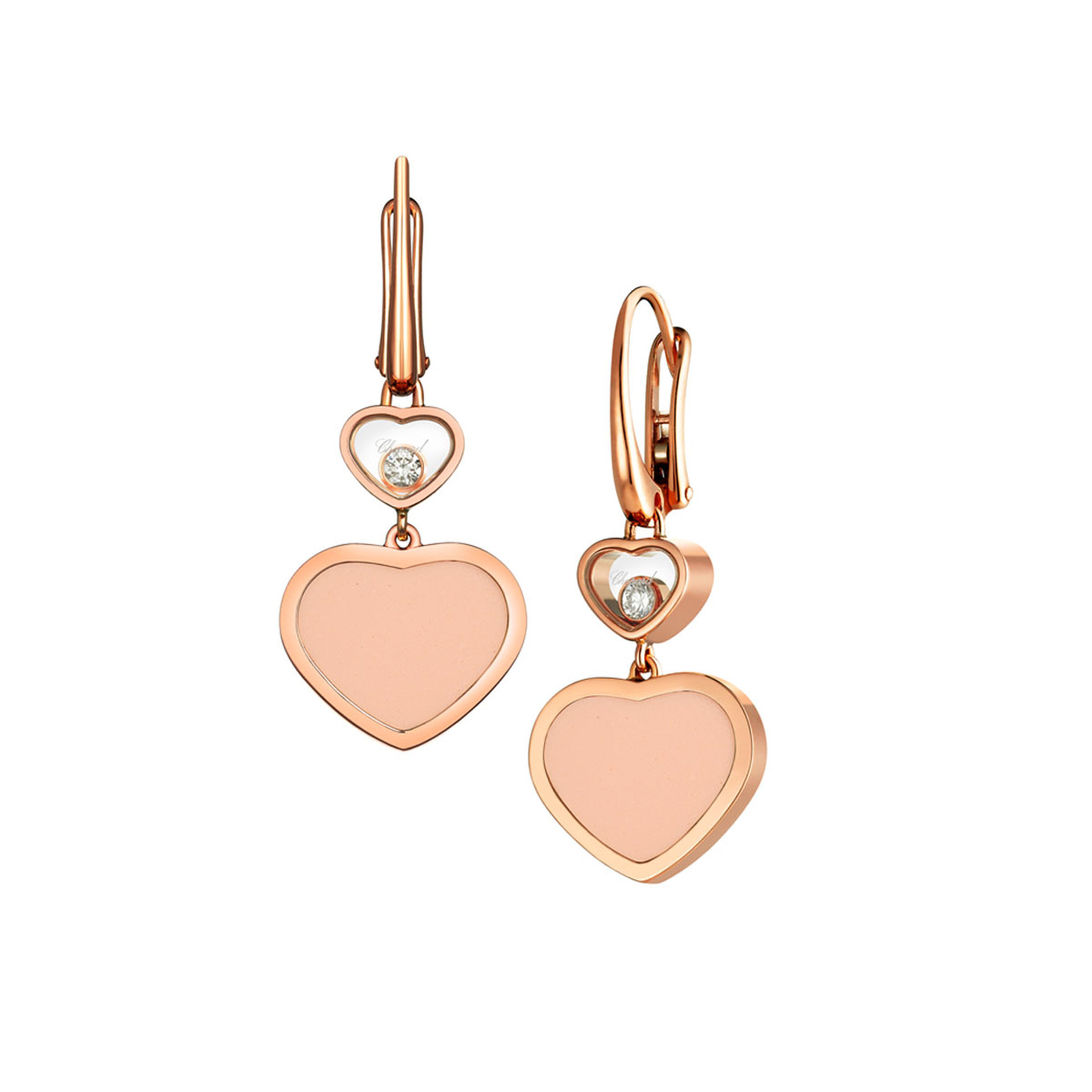 Chopard 18ct Rose Gold Happy Hearts Earrings