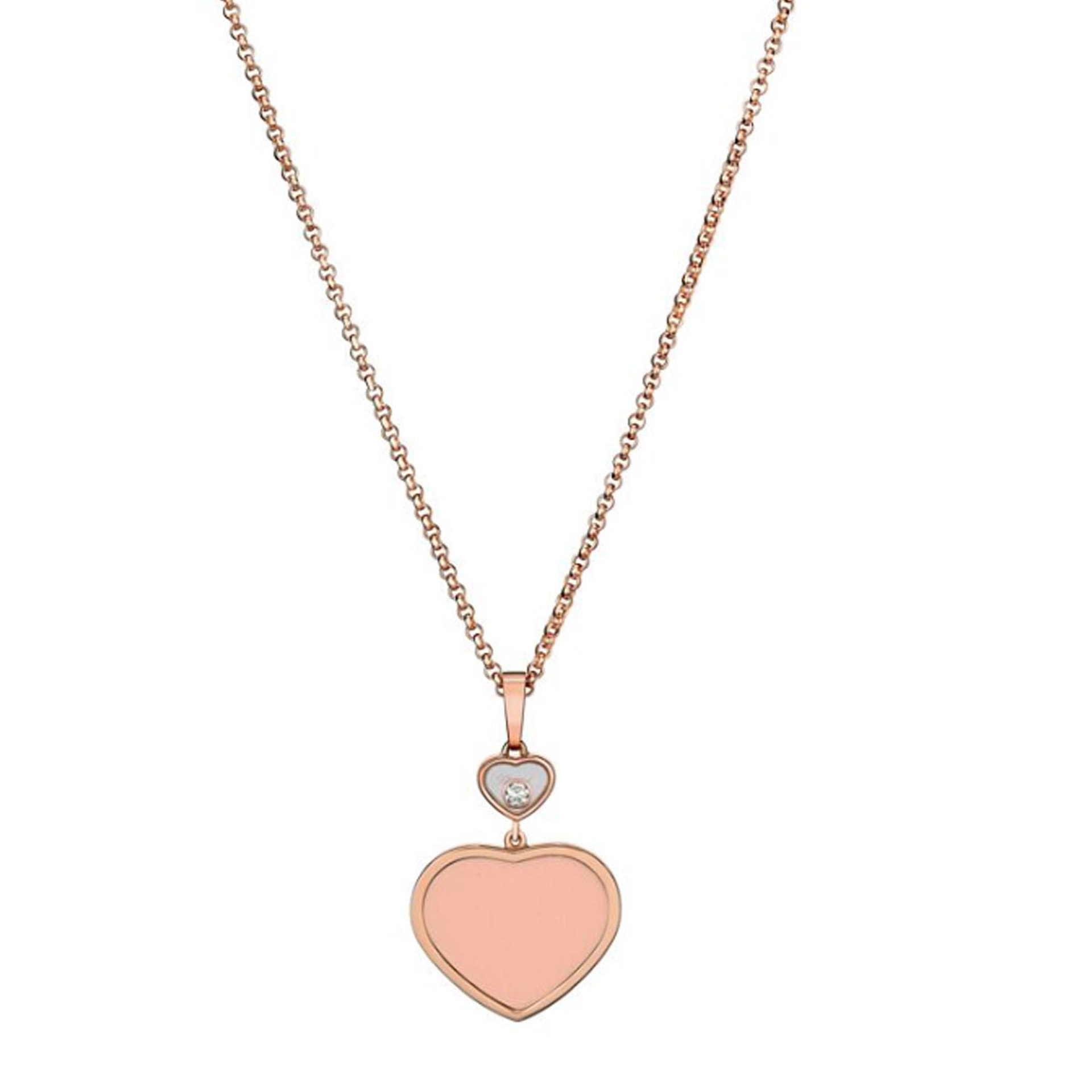 Chopard Happy Hearts 18ct Rose Gold Pendant