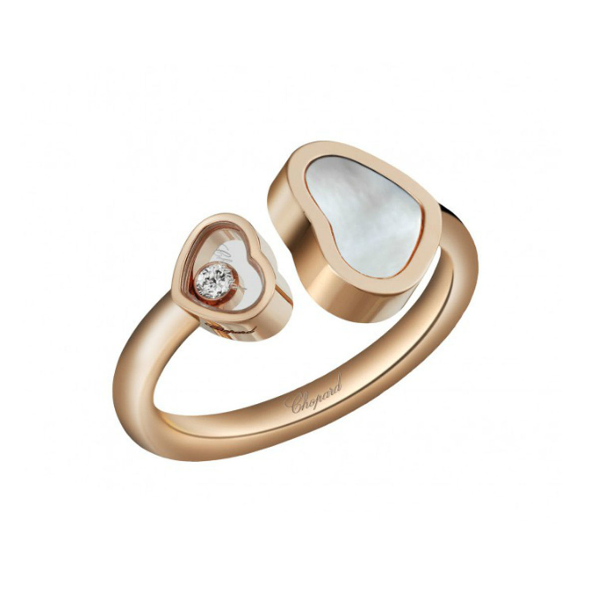 Chopard 18ct Rose Gold Happy Hearts Ring