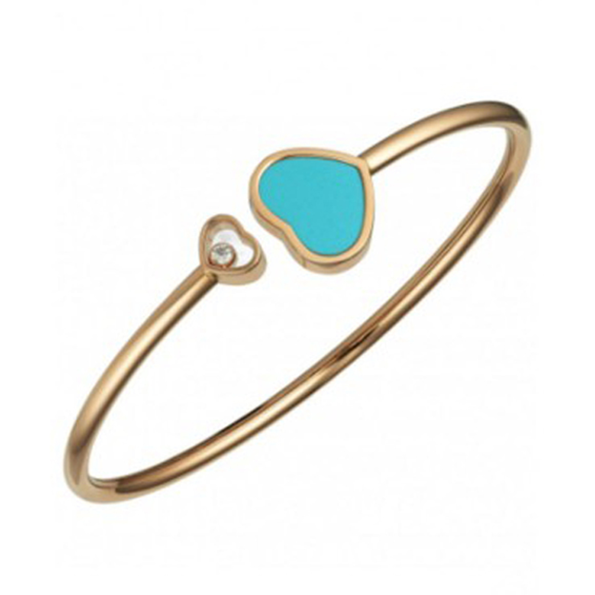 Chopard 18ct Rose Gold Happy Hearts Bangle