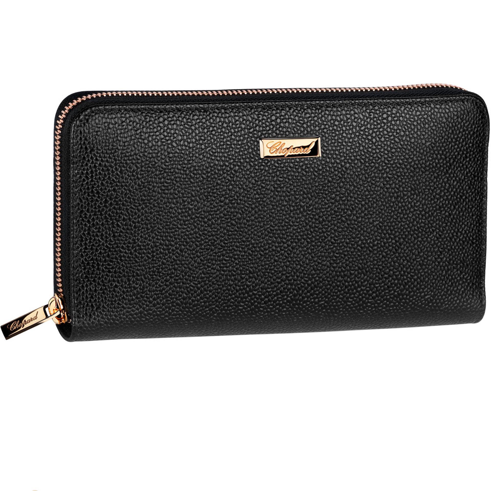 Chopard Black leather Caroline medium zip wallet