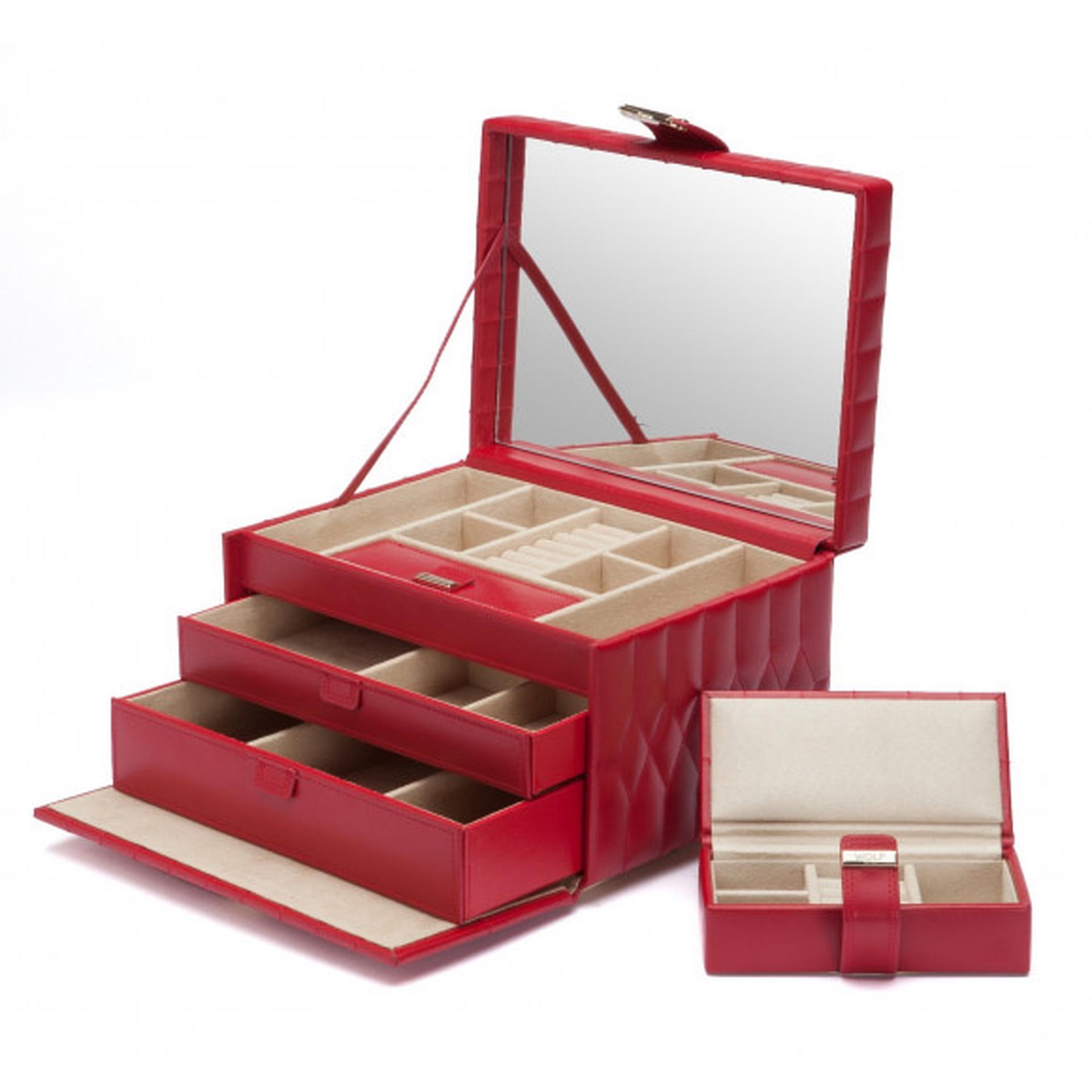 Caroline Medium Red Jewellery Box