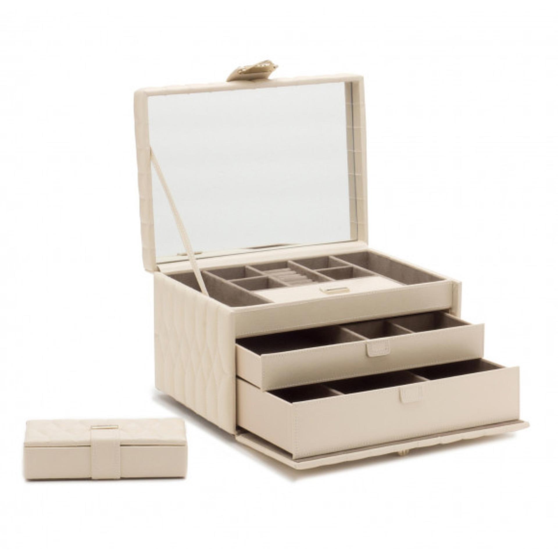 Caroline Ivory Medium Jewellery Box