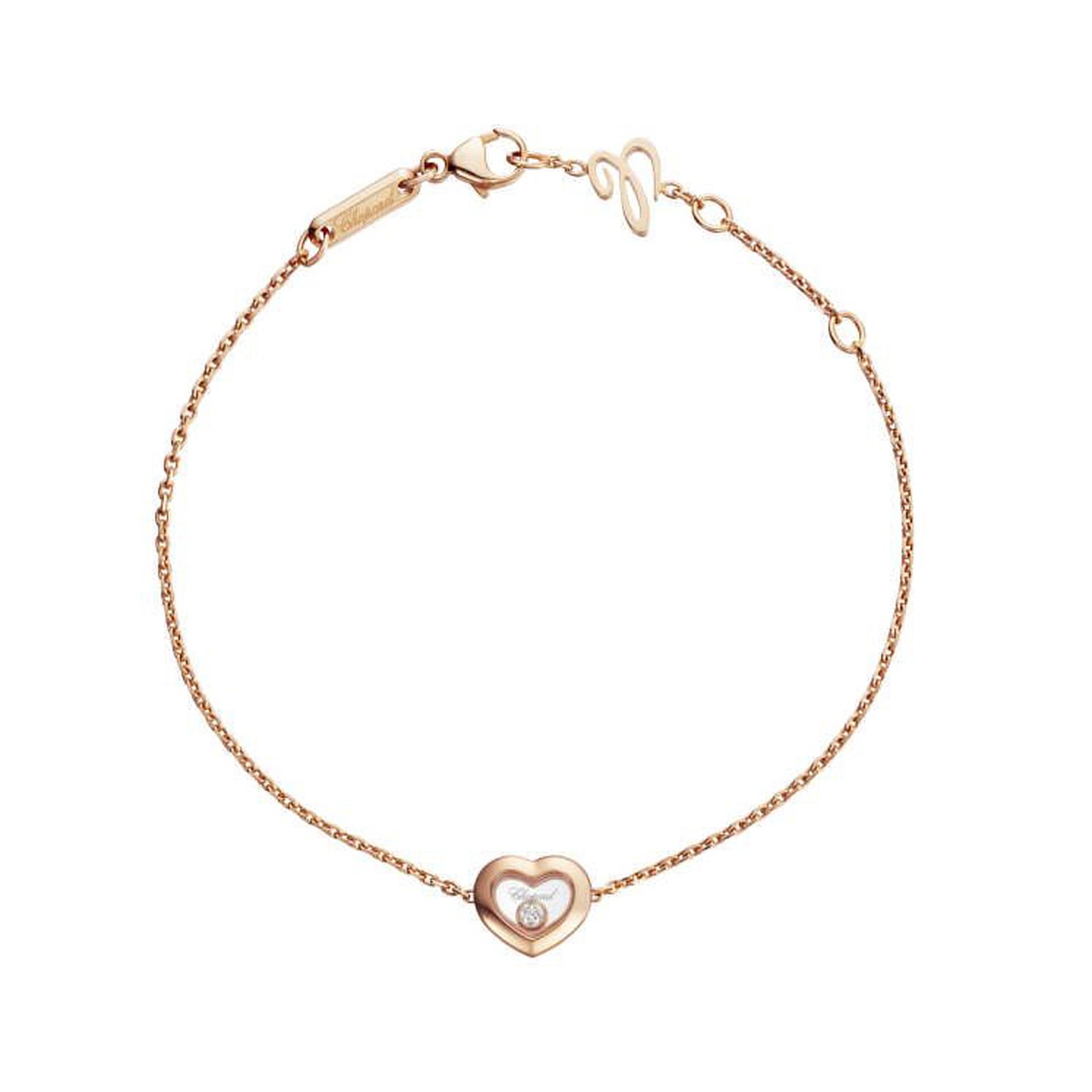 Chopard Happy Diamonds Heart Bracelet 18-carat Rose Gold and Diamonds