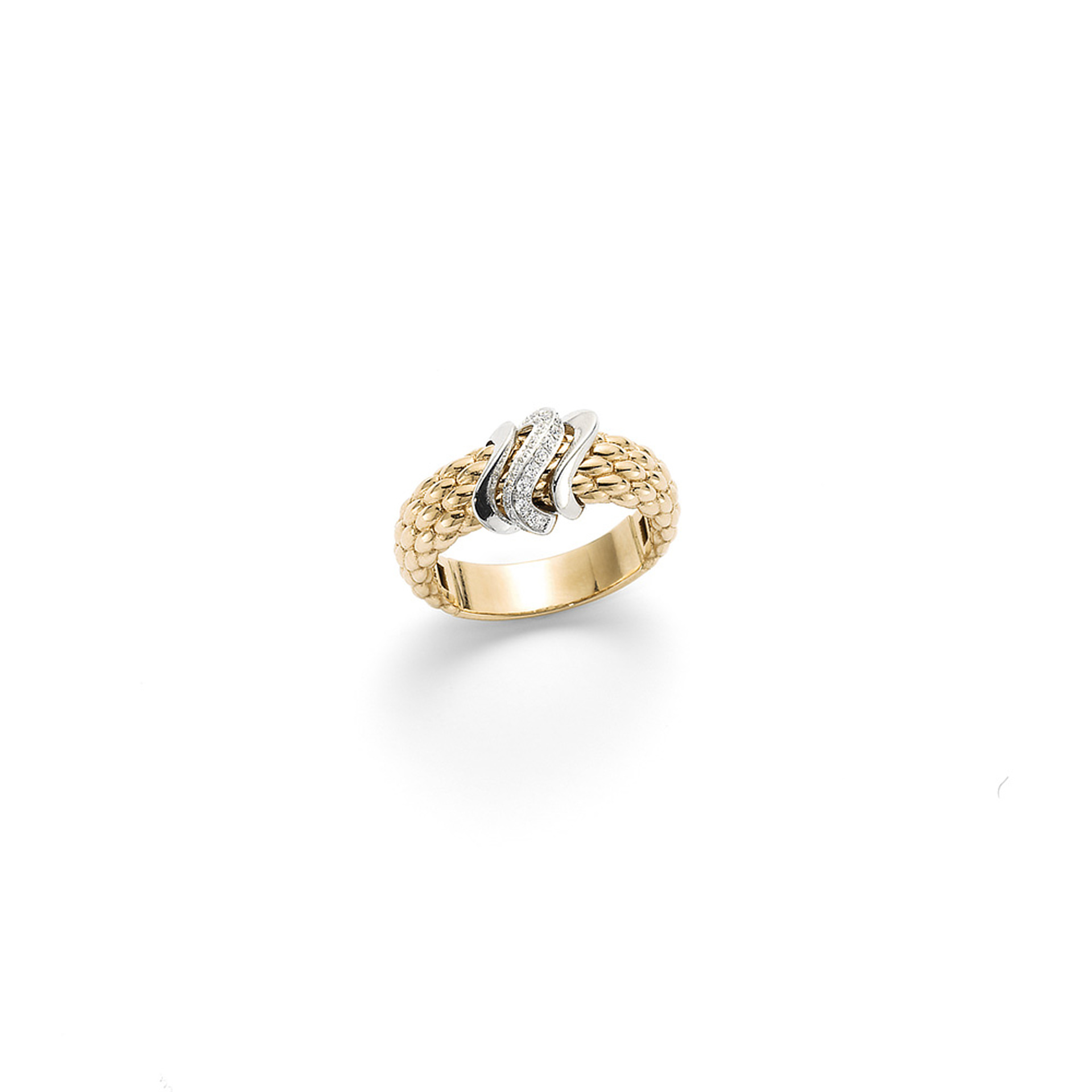 Fope 18ct Yellow Gold Flex'It Vendome Diamond Ring