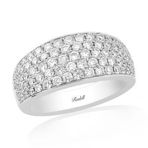 Rudells Embrace Pavé 18ct White Gold Ring