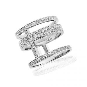 Edgy 18ct White Gold and diamond ring that elegantly wraps around the finger 0.64ct
