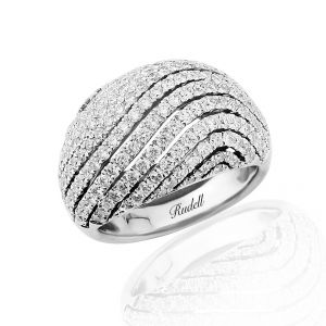 Showcasing a stunning diamond set curved dome design in 18ct white gold 2.41ct