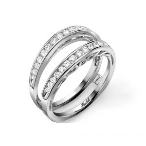 18ct White Gold Diamond Detailed Ring