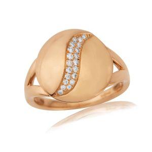 Rudells Dune 18ct Rose Gold Diamond Set Ring