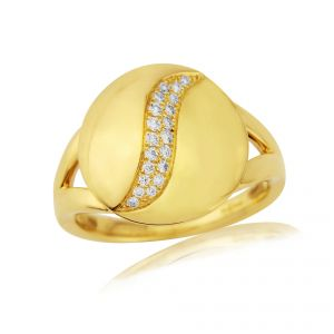 Rudells Dune 18ct Yellow Gold Diamond Set Ring