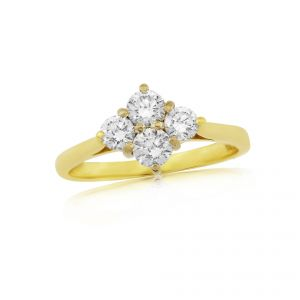 Previously Owned 18ct yellow gold Diamond Ring