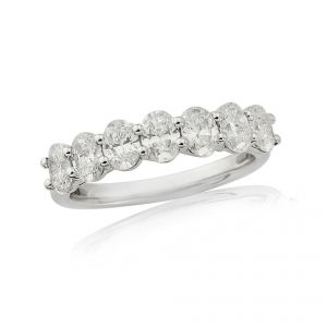 18ct White Gold 7 Stone Diamond Set Half Eternity Ring