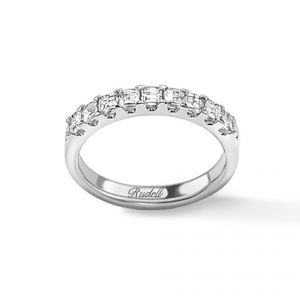 18ct white gold and diamond eternity ring