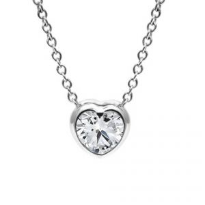 Forevermark 18ct White Gold Heart Diamond Pendant