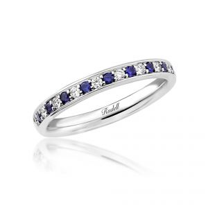 18ct White Gold Sapphire and Diamond Channel Set Ring