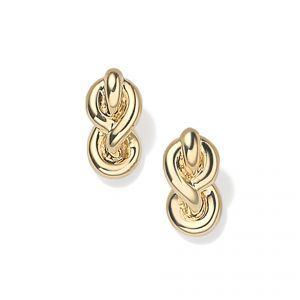 18ct Yellow gold knot earrings - Rudells exclusive ranges