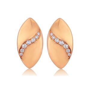 Rudells Dune 18ct Rose Gold Diamond Set Earrings
