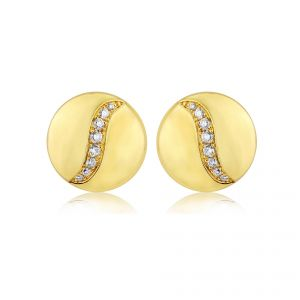 Rudells Dune 18ct Yellow Gold Diamond Set Earrings