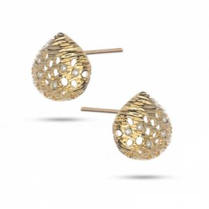 Rachel Galley Cala 18ct Gold and Diamond Shell Stud Earrings