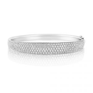 Rudells Embrace Pavé 18ct White Gold Bangle