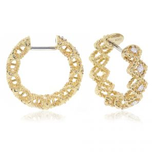 18ct Yellow Gold Roman Barocco Hoops