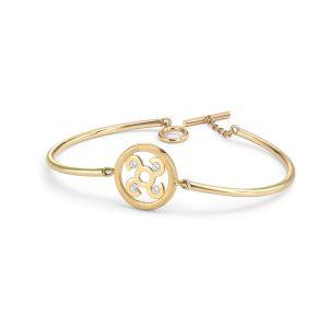 Rudells Wheel 18ct Yellow Gold and Diamond Bangle