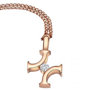 Rudells Legacy 18ct Rose Gold and Diamond Pendant