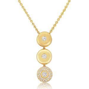 Rudells Destiny 18ct Yellow Gold Diamond Pendant