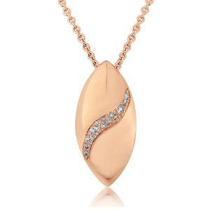 Rudells Dune 18ct Rose Gold Diamond Set Pendant