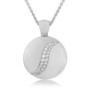 Rudells Dune 18ct White Gold Diamond Set Pendant